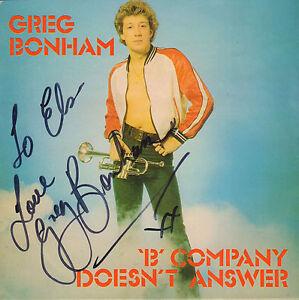GREG-BONHAM-B-Company-Doesn-039-t-Answer-1978-UK-VINYL-SINGLE-7-034-AUTOGRAPH