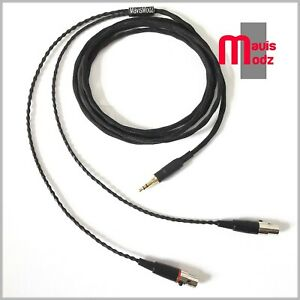 Audeze-lcd-2-3-4-X-cable-upgrade-8-core-sp-occ-2m-black-sleeve-3-5mm-trs