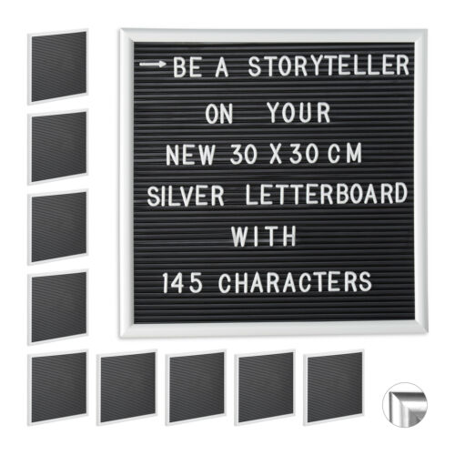 10 x Letterboard Steckboard Stecktafel Message Board Worttafel Memoboard 30x30