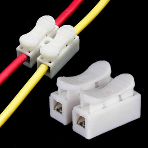 Electric Cable Clip Connector 2 Pin Easy Connect 30 Pcs Wire Lock Fast Easy New