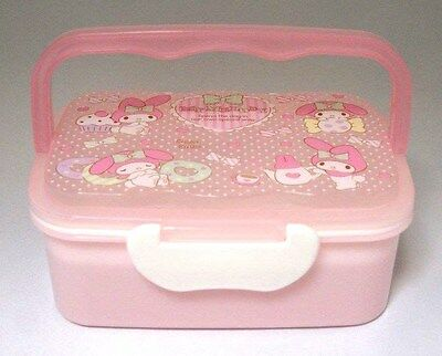 My Melody School 2 Tier Lunch Box Bento Food Container with Handle 1200ml