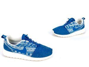 dc99fed65505e Nike Women s Roshe One Winter 685286 441 BRIGADE BLUE Shoe SZ 8