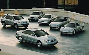 2001 Acura Tl 3 2 >> Details About 2001 Acura Brochure Catalog Nsx 3 5 Rl 3 2 Tl Cl Type S Mdx Integra Gs R