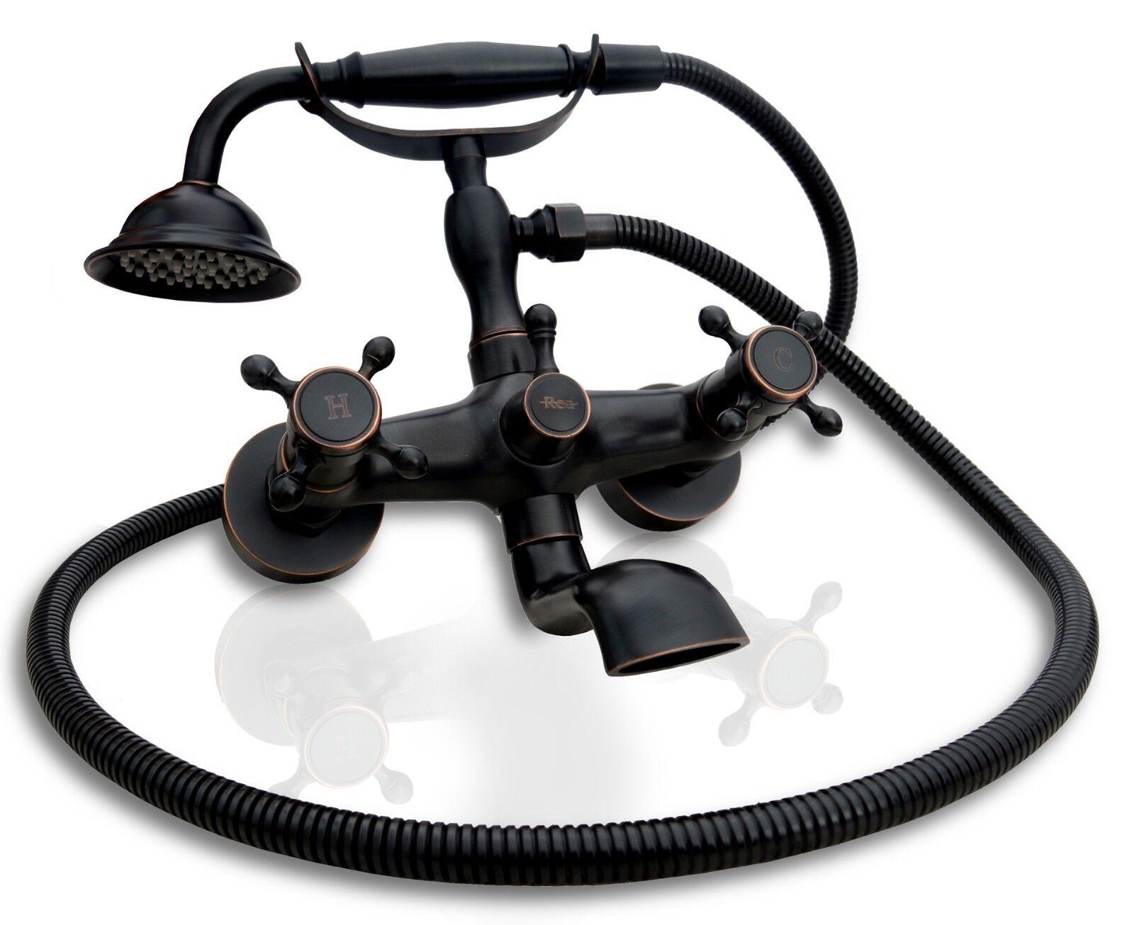 Baignoire Robinet Rétro Noir Robinet s'adapte à chaque salle de bain Wall hung