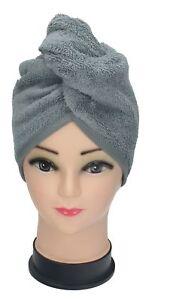 Asciugamano-turbante-cuffia-turbante-di-Betz-100-cotone-colore-grigio