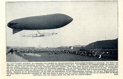 Bright Jungfernfahrt Des erbslöh- Luftschiffes In Leichlingen Von 1909 Strengthening Sinews And Bones