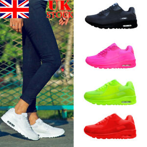 UK-Women-Gym-Sport-Trainers-Air-Cushion-Lace-Up-Sneaker-Ladies-Casual-Shoes-Size