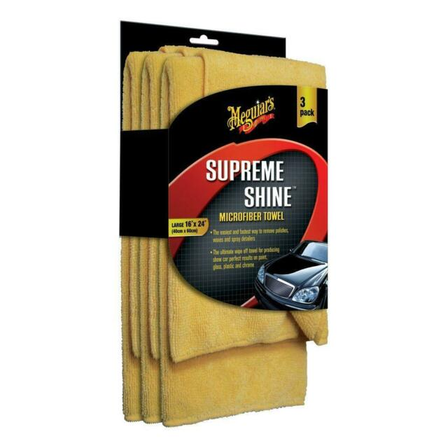 SUPREME SHINE MICROFIBER TOWEL -3 PACK