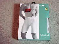 Men Vintage Prospirit Gray Active Trunk Boxer Brief Underwear 1pr Sm 28-30 1995