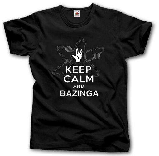Big Bang Bazinga Theory rester calme et Bazinga Bang Sheldon Cooper S-XXXL chemise TV fe6f2e