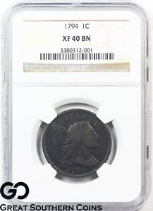 1794-Large-Cent-Flowing-Hair-Liberty-Cap-NGC-XF-40-Bn-Very-Rare