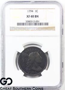 1794-Large-Cent-Flowing-Hair-Liberty-Cap-NGC-XF-40-Bn-Very-Rare
