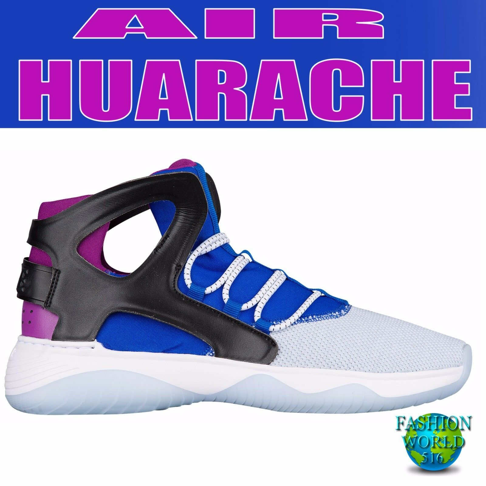 Nike hombre Talla 9 880856 Air flight huarache ultra 880856 9 blanco / negro / azul / Berry 4b5ea6