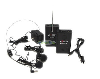 2-in-1 Headset & Lapel Wireless system Microphone For PA/Karoke Camcorder