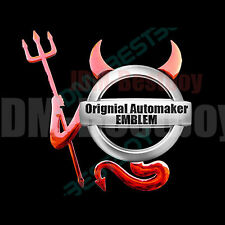 JDM CHROME RED 3D Devil Evil Decal Sticker Car Emblem Logo