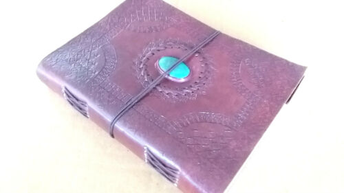 "Handmade Leather Journal Vintage Look Emboss Diary Notebook Private Book 8"" x 6"""