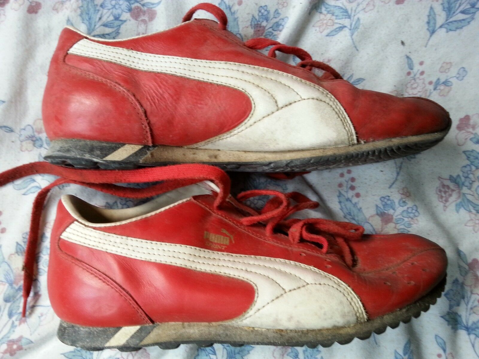 8564b6b6aca9 Puma Sprint Trainers Red White size 7 1 2 Good Condition