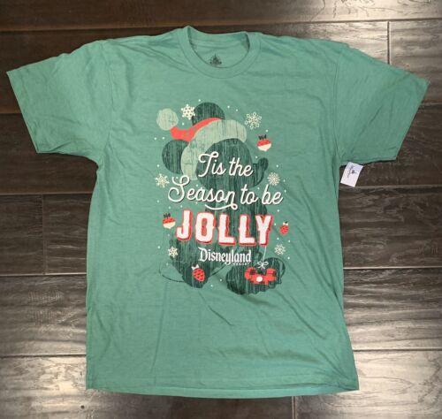 DISNEY PARKS 2019 CHRISTMAS TIS THE SEASON TO BE JOLLY ADULT T-SHIRT 2X-LG NWT
