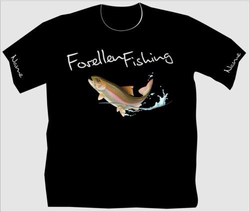 Forellen Angler T Shirt Anglershirt Angeln Forellenfishing Köder Fangen 174