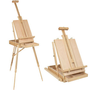 Image is loading French-Tripod-Easel-Folding-Durable-Wooden-Sketch-Box-  sc 1 st  eBay & French Tripod Easel Folding Durable Wooden Sketch Box Portable Art ... Aboutintivar.Com