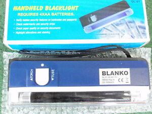 BANKNOTEN-GELD<wbr/>SCHEIN-DOKUMEN<wbr/>TEN TESTER mit Batteriebetrie<wbr/>b u.Taschenlampe 15106