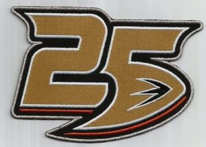 finest selection 11d45 f5ed6 Details about 2018 Anaheim Ducks 25th Anniversary Collectible Patch - Iron  ON 25 year Mighty