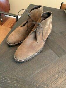 Banana Republic Vero Cuoio Men's Brown Suede Chukka Boots Size 12