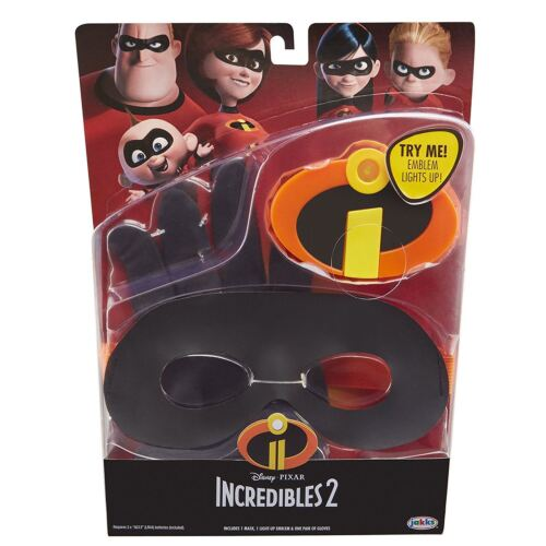 The Incredibles 2 Gear Set Kids Dress Up Mask Gloves /& Light Up Emblem