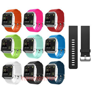 Replacement-Silicone-Rubber-Band-Strap-Wristband-Bracelet-For-Fitbit-Blaze-New