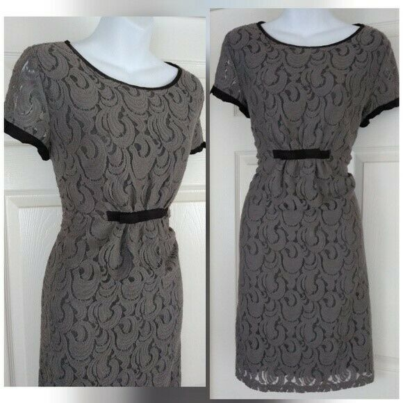Uncle frank anthropology Casual scoop neck braun sheath lace dress Sz XL