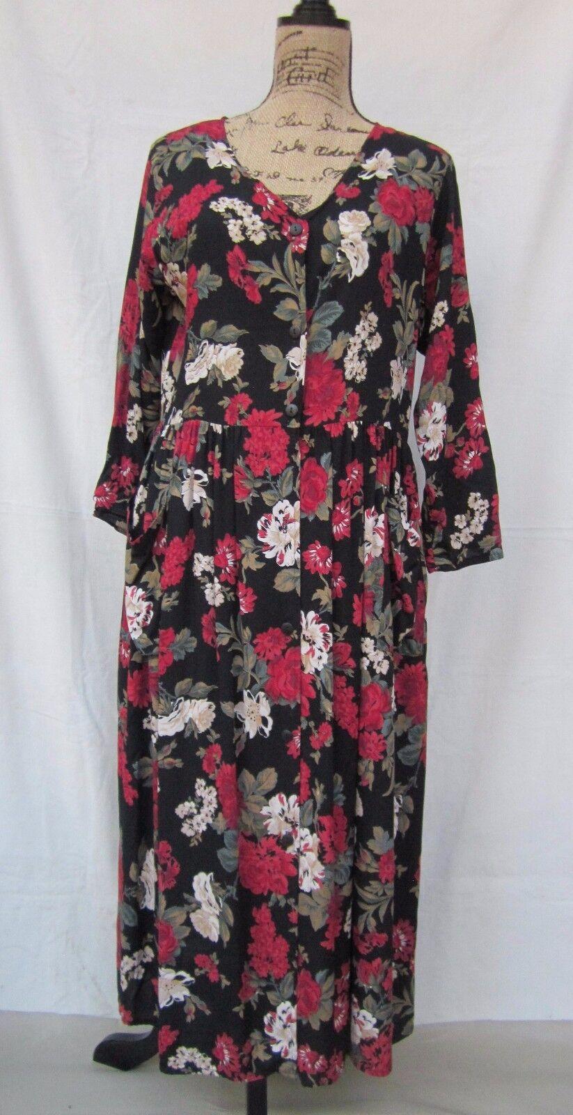 FARIDEH Pour Publique Woherren Floral Print V-Neck Dress Multi-Farbe Plus Größe 1