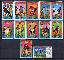s5321) KOREA 1978 MNH** World Cup Football-Campionato Mondiale Calcio 12v IMPERF