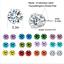 12-Pairs-Women-Everyday-Stud-Post-Earrings-CZ-Month-Birthstones-Stud-Earrings thumbnail 2