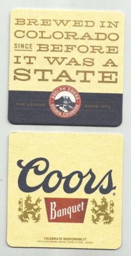 Lot Of 5 Coors  Banquet Beer Coasters-Golden CO #2390 Before Coloraado