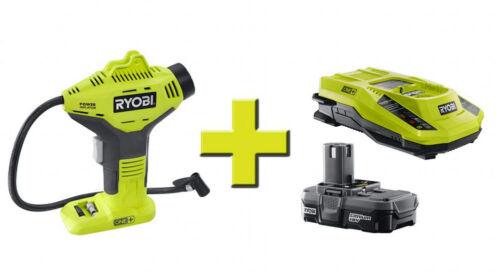 Lithium Upgrade Kit Up to 150 PSI Portable Ryobi 18-Volt ONE Power Inflator