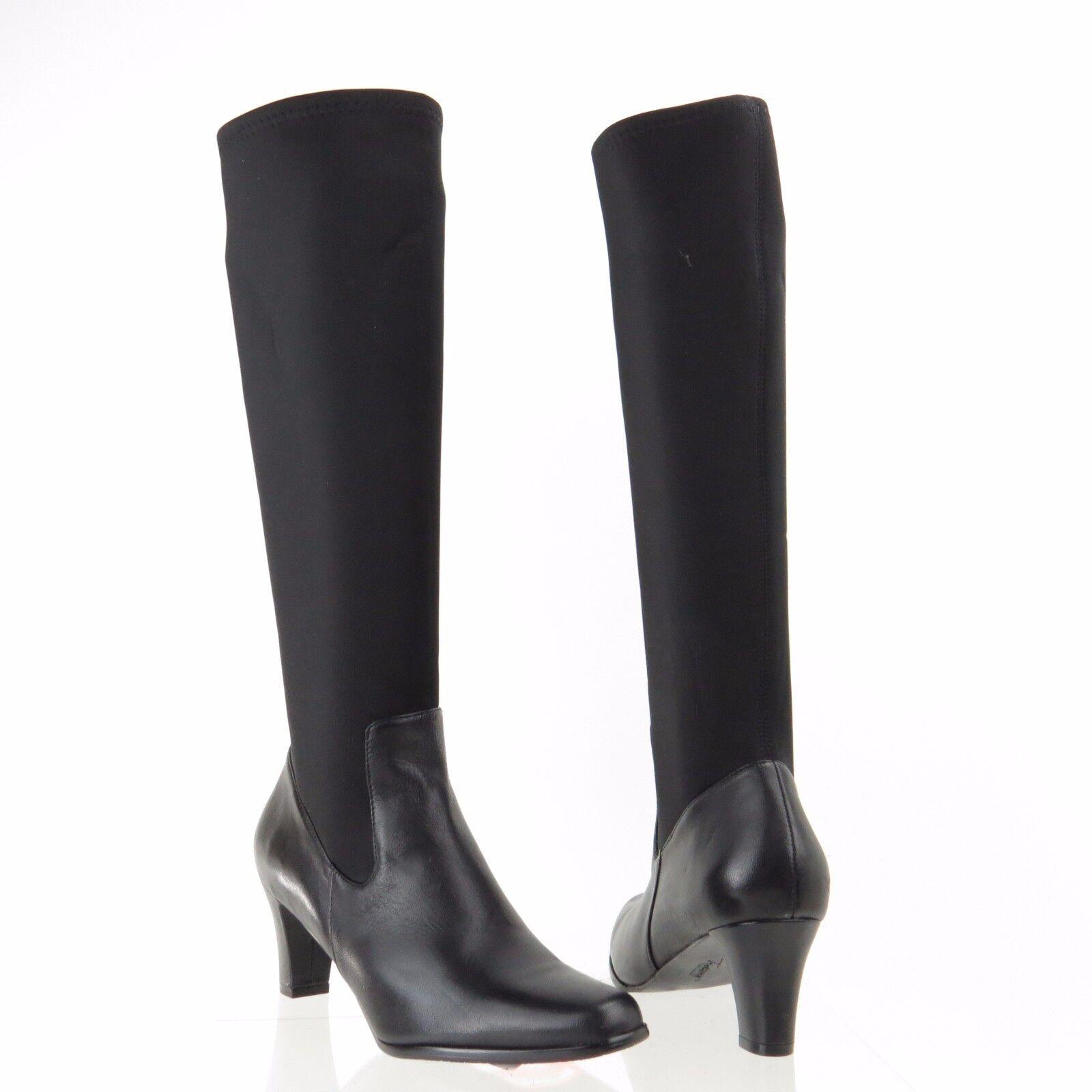 Women's Tredters Jaxson Black Synthetic Square Toe Knee High Boots Size 6 M NEW