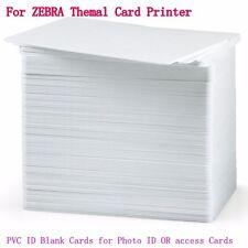 100x Blank White PVC CR80 Plastic Photo ID Credit Card 30Mil fr PVC Card Printer