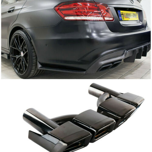 FITS Mercedes Benz W212 W221 W204 W205 W218 AMG Style Black Exhaust Muffler Tips