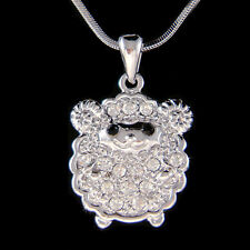 w Swarovski Crystal Cute Baby Sheep Lamb Nature Farm Animal Necklace Jewelry New