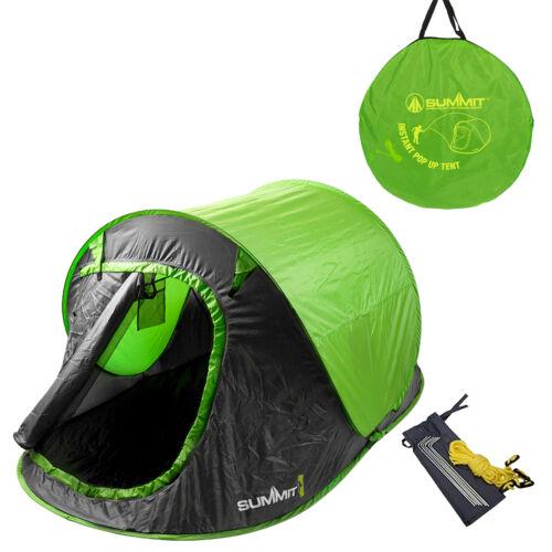 Sommet hydrahalt 2 Personne Pop Up Tente Camping et extérieur Sleeping Gear-Vert