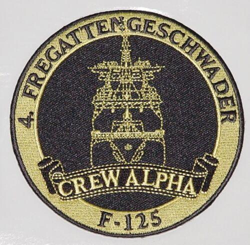 Aufnäher Patch 4 Fregattengeschwader Fregatte F-125 Crew Alpha ........A4365