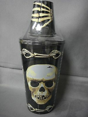 SCARYBONES PLASTIC MARTINI SHAKER SHOT GLASS SKULL SCARY BONES HALLOWEEN PROP