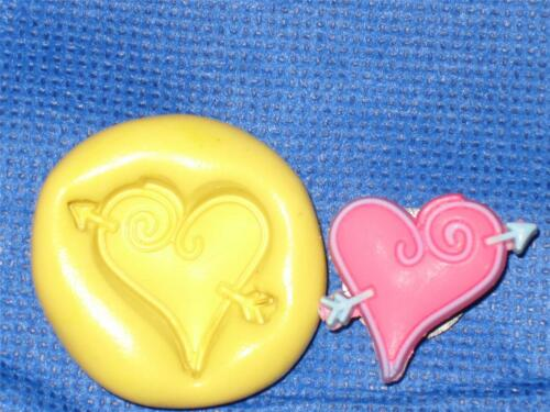 Heart Silicone Push Mold 783 For Soap Resin Clay Fondant Chocolate