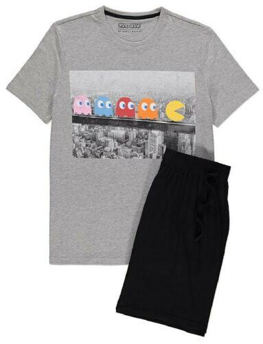 PAC-MAN-Retrò Video Game-MEN /'S Gamba Corta Manica Corta Pigiama Set
