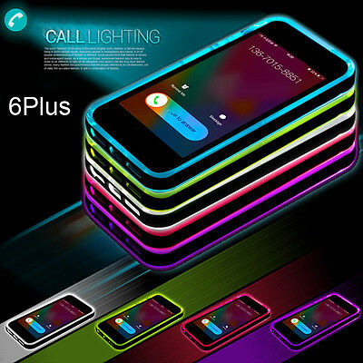Cool Incoming Call LED Blink TPU Transparent Back Case Shield for iPhone6 6sPlus