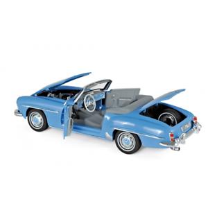 Mercedes 190 Sl 1957 Blue 1:18 Échelle Norev 183400 3551091834007
