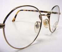 Willis & Geiger P3 Eyeglass Frames Antique Yellow Gold Wire Rim Vintage 48