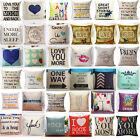 18'' Home Decor Cotton Linen Throw Pillow Case Romantic Sofa Waist Cushion Cover