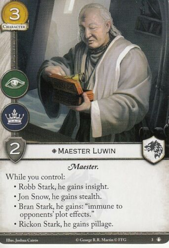 3 x Maester Luwin AGoT LCG 2.0 Game of Thrones Taking the Black 3