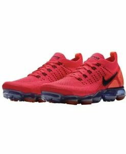 f528cad0539c Nike Air Vapormax Flyknit 2 Shoes Red Orbit Obsidian Rouge AR5406 ...